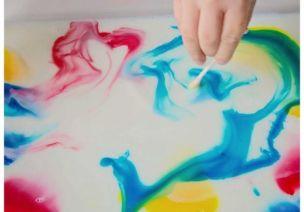活捉色彩 | 颜料开花了?神奇的牛奶画,带你感受色彩的律动!