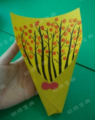 中班美工制作两则 | 温馨家庭树&简易花束