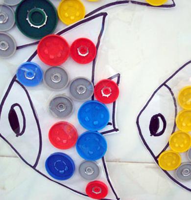 这些鱼既是手工课,又是环创装饰!重点是最适合夏季了!