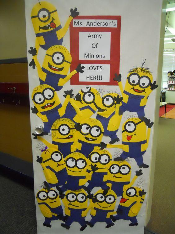 Classroom Decoration Ideas Welcome ~ 全屋环创 小黄人主题环创,快来释放你的banana能量吧 幼师宝典官网
