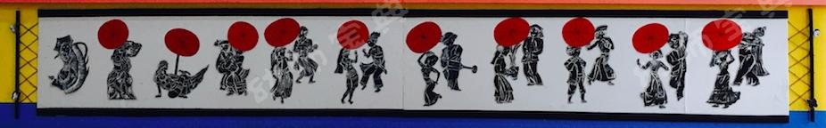 中国风环创 | 剪影青花齐上阵,民族古风韵味足