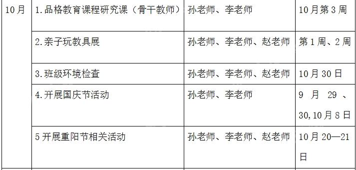 中班学期工作计划(条理清晰,内容全面,还带月份工作表)