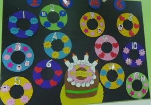 最盼望过生日?这样的生日墙本身就是孩子们的礼物