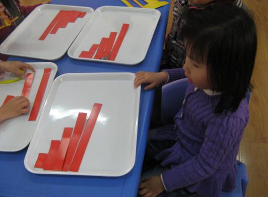 创造性课程 | 小班数学教案及反思——长短排序