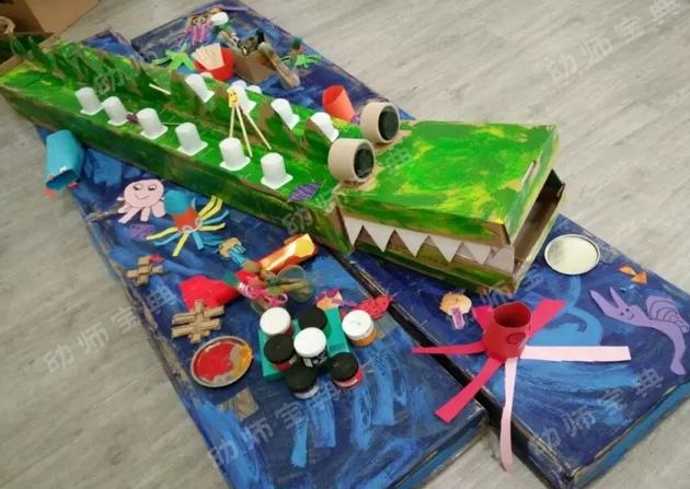 纸箱环创 | 这位老师竟然用废旧纸箱制作了这么多惊艳的环创!