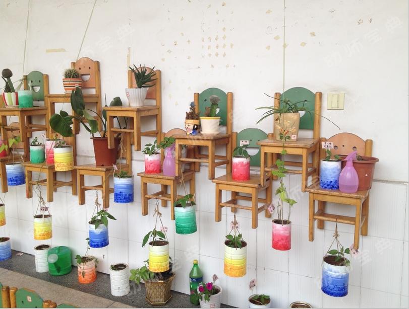 自然角花盆 | 创意自然角,废旧物变身