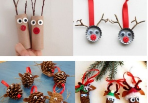 圣诞萌物——驯鹿小手工