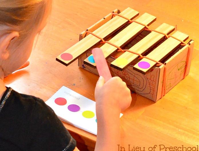 音乐区   小中大班自制玩教具