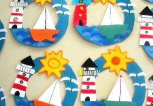 夏天纸盘就要这样玩~海景、池塘、小水果……可做美工可做环创哦