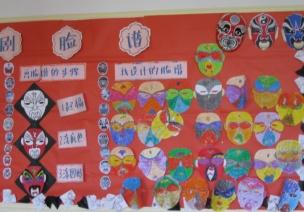 中国风墙饰|集京剧、脸谱、剪纸的主题墙