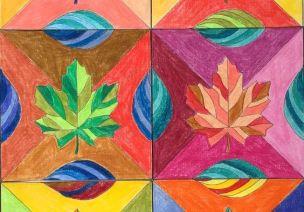 秋季美工 | 从拼贴到线描,秋天的树叶,竟能涵盖这么多画种!