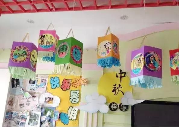 中秋节环创 | 中秋主题墙、吊饰大合集