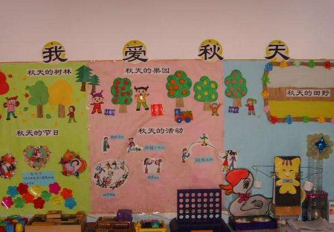 秋天主题墙   从主题网络图,到主题墙和墙面装饰