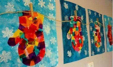 美工 | 冬季主题创意绘画原来这么好玩!还可以做成圣诞礼物