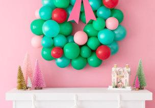 圣诞节环创   用气球布置圣诞节,简直美到犯规