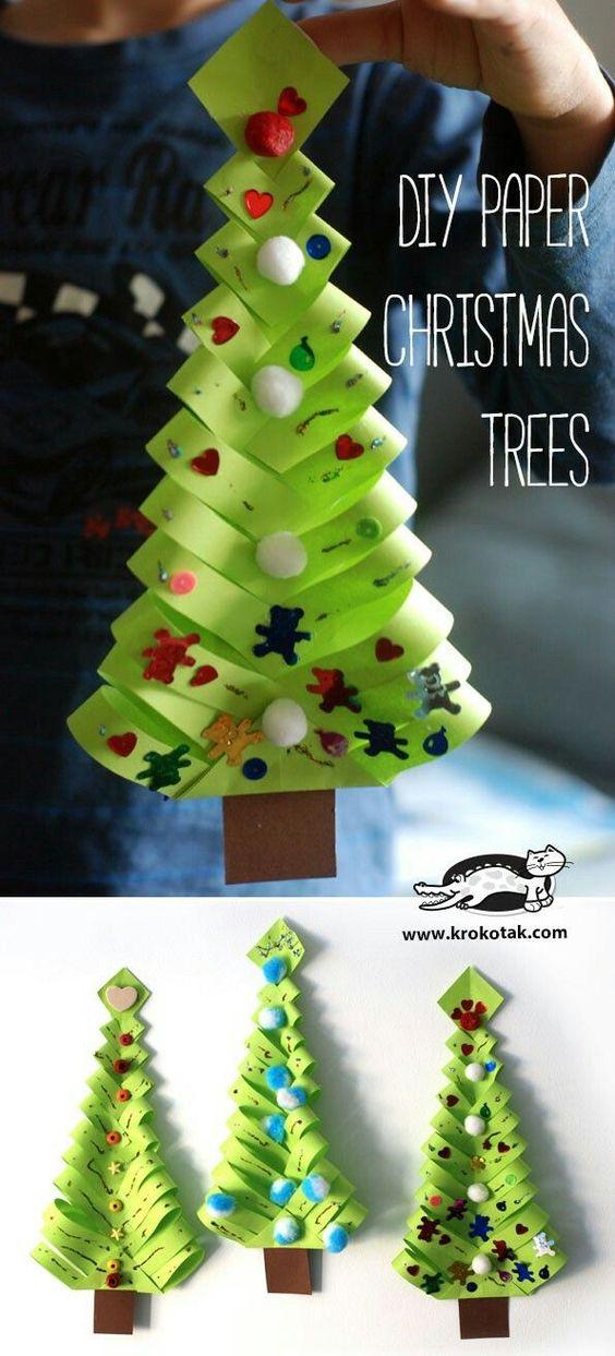 圣诞节手工 | 7款简简单单、色彩缤纷的圣诞树折纸