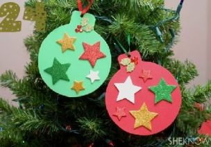 圣诞节环创   最接地气的圣诞吊饰,彩纸和废旧材料就能做!