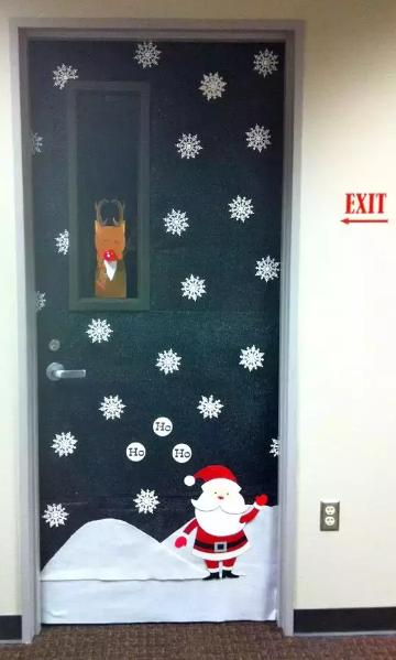 圣诞环创 | 圣诞节教室门装饰大放送第二弹,赶快接招!