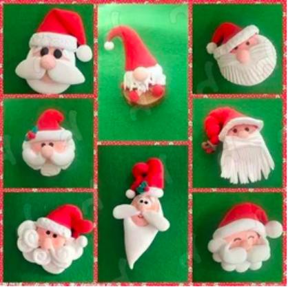 圣诞节手工 | 八款粘土手工,给孩子不一样的圣诞老人