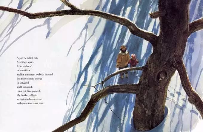 绘本欣赏 | Owl Moon《月下看猫头鹰》