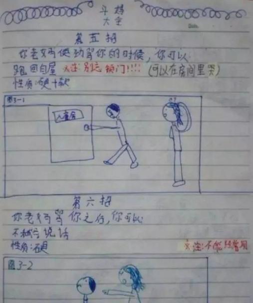 这个女孩画的《斗妈大全》千万别让6岁以上的孩子看到啊