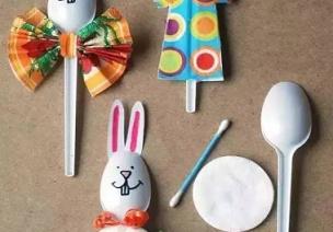 手工 | 用�^冰姗的塑料勺子可�e�G了!�孩子��玩起��