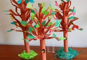 还没做植树节手工树的老师们,宝典君喊你种树啦!