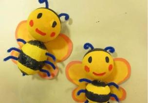 春季手工 | 嗡~嗡~嗡,小蜜蜂集結隊來啦!
