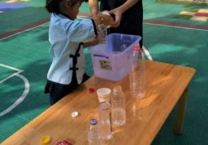 大班科学领域数学活动   一样多的水(容积守恒)