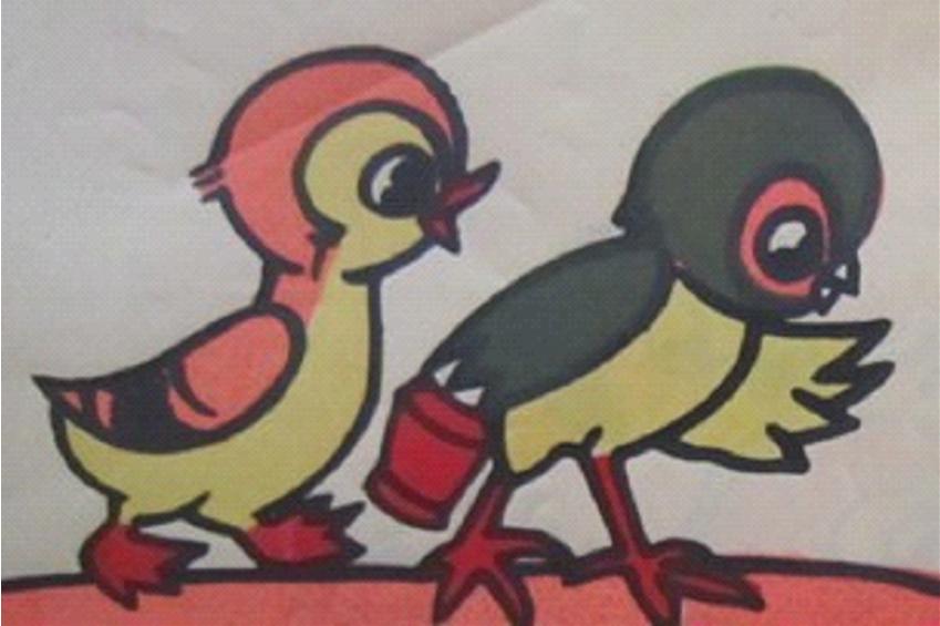 中班看图讲述图片_大班语言叙事性讲述活动《小鸡和小鸭》-幼师宝典官网