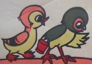 大班语言叙事性讲述活动《小鸡和小鸭》