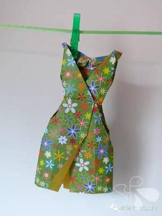 折纸手工   夏天到了,你穿裙子了么?裙子折纸大全请笑纳