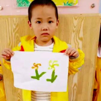 中班幼儿棉签画_小班艺术领域美术活动 | 棉签画《菊花》-幼师宝典官网