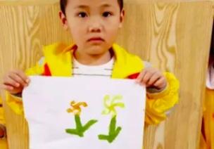 小班艺术领域美术活动   棉签画《菊花》