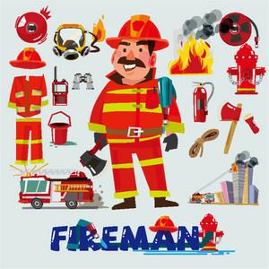 美国幼儿园消防安全主题活动   《可爱的消防员》