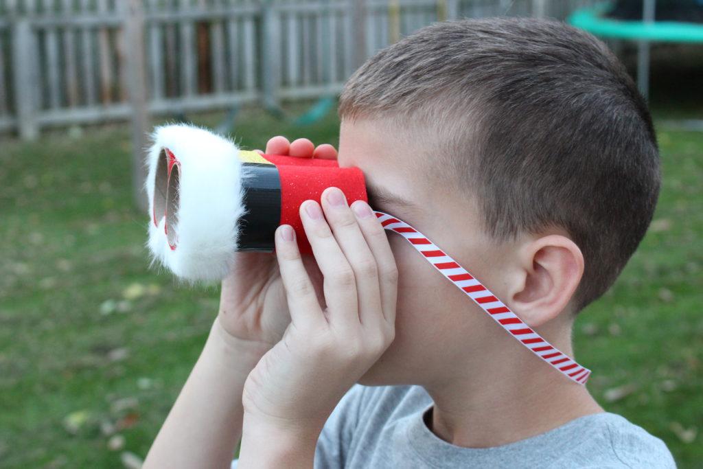 圣诞手工 | 圣诞老人在哪里,望远镜来看看~