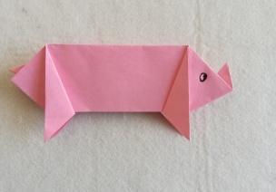 猪猪手工 | 折纸篇:折一只可爱的小猪猪,一年都有福气~