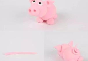 豬豬手工 | 紙粘土篇:胖嘟嘟粉嫩嫩,捏出來的小豬更帶感!