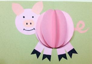 猪猪手工 | 贺卡篇:3款猪猪贺卡,祝您新年快乐!
