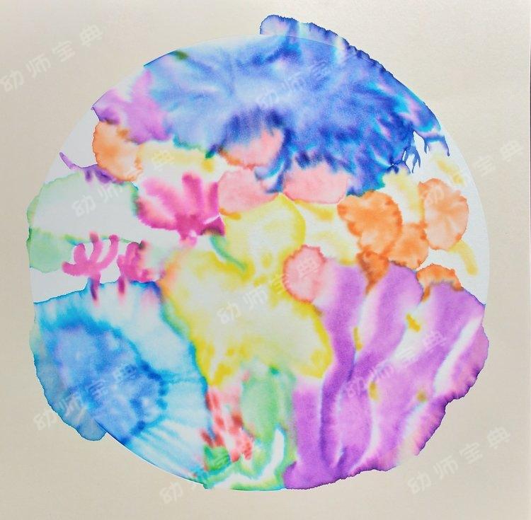 水彩笔与水的奇妙结合,效果可以媲美国画?
