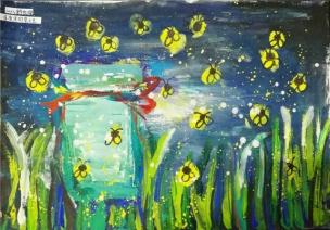 绘画 | 盛夏夜,扑流萤(含各年龄段简案)