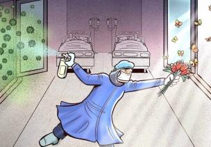 伊朗艺术家创意插画,告诉孩子是谁在替我们负重前行