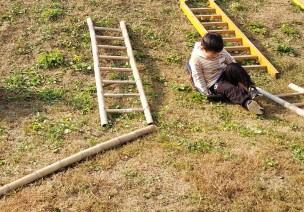 中班生成活动 | 小朋友巧用场地——滑草日记
