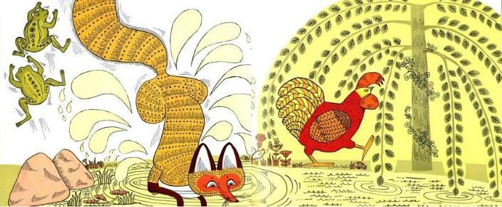 幼儿园大班绘画活动 母鸡萝丝去散步