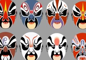 幼儿园大班美术活动 有趣的京剧脸谱