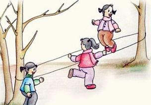 幼兒園大班體育活動 玩橡皮筋